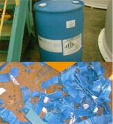 破砕機 破砕例 プラスチック容器