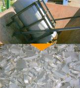破砕機 破砕例 大径塩ビ管