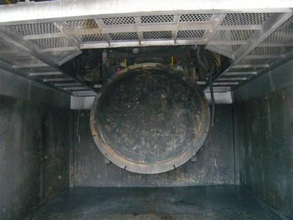 乾留式焼却設備焼却炉灰出口ゲート取替工事